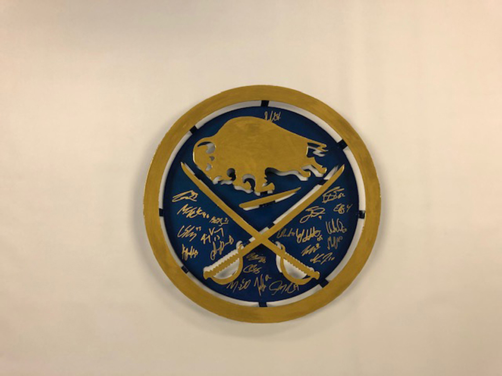 Sabres Logo Autographed by 2019-20 Team