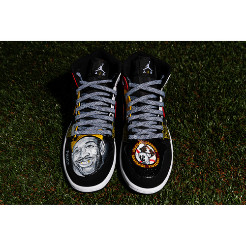 Photo of Promote the Vote: Custom Design Sneakers Theme: Negro League Kings and Game-Used Baseball