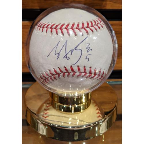 Photo of Tzu-Wei Lin #5 Autographed Baseball