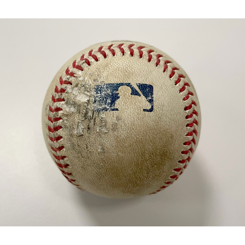 Photo of Game-Used Baseball - Pitcher: Frankie Montas | Batter: Shohei Ohtani 3-Run Home Run (5) (Top 3) 8/23/20 vs Los Angeles Angels