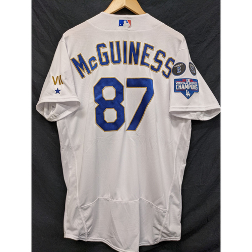 Connor McGuiness Team-Issued Gold Trim Re-Opening Day Jersey - 6/15/21