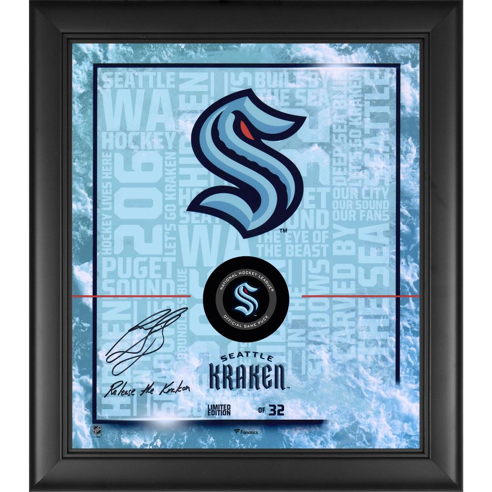 Ron Francis Seattle Kraken Framed Autographed 15