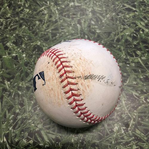 Photo of Game-Used Baseball SD@MIL 05/27/21 - Trevor Richards - Tommy Pham: Double (2)