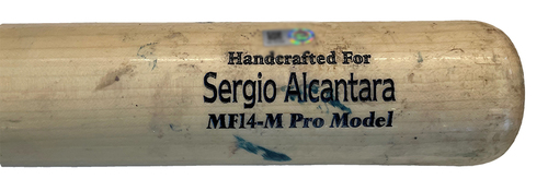 Photo of Sergio Alcantara Game-Used Cracked Bat -- Mychal Givens to Sergio Alcantara, Ground Out, Bot 9 -- Reds vs. Cubs -- 9/7/21