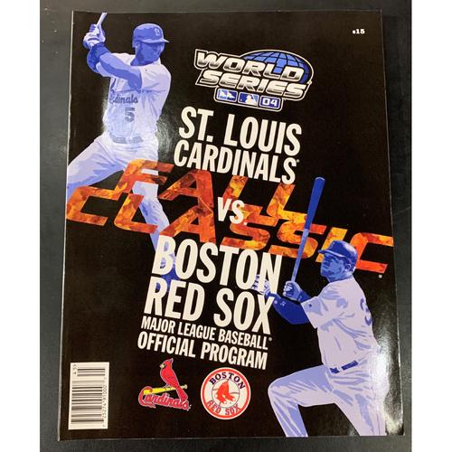 Photo of St Louis Cardinals vs Boston Red Sox 2004 World Series Program