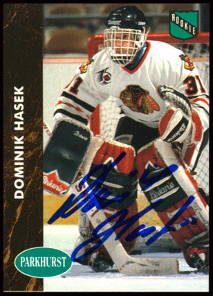 1992/93 Parkhurst #263 Dominik Hasek Autographed Rookie Card