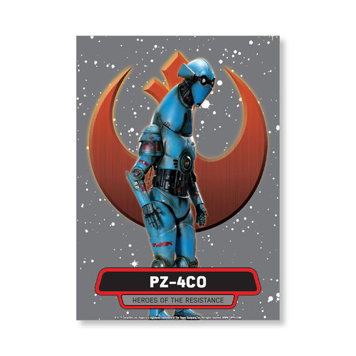 PZ-4CO 2016 Star Wars The Force Awakens Chrome Metal Poster - # to 99