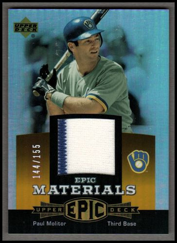 Photo of 2006 Upper Deck Epic Materials Orange #PM2 Paul Molitor Jsy/155