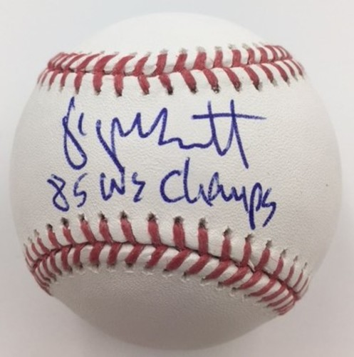 "Photo of George Brett ""85 WS Champs"" Autographed Baseball"