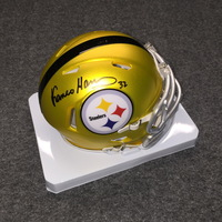 HOF - STEELERS FRANCO HARRIS SIGNED STEELERS BLAZE MINI HELMET