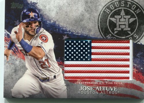 Photo of 2018 Topps Independence Day U.S. Flag Relics #IDMLJA Jose Altuve