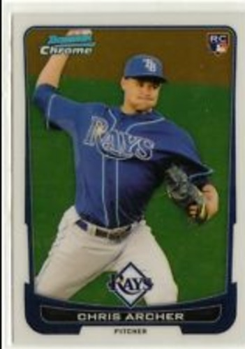 Photo of 2012 Bowman Chrome Draft #35 Chris Archer Rookie Card