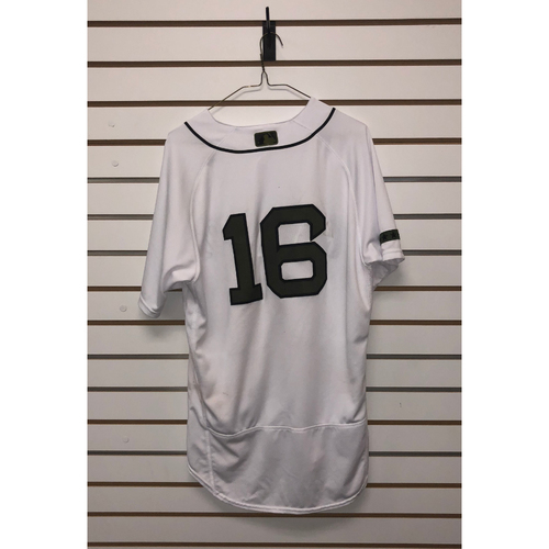 Photo of Andrew Benintendi Game-Used May 25, 26, & 27, 2018 Memorial Day Home Jersey - May 25th - 3 for 4, HR 3 RBIS - May 27th - 3 for 5, HR, 4 RBIs