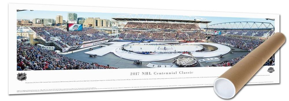 Centennial Game Panorama Print 2017 Leafs vs RedWings In A Tube