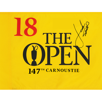 Jordan Spieth, The 147th Open Carnoustie Autographed Souvenir Pin Flag