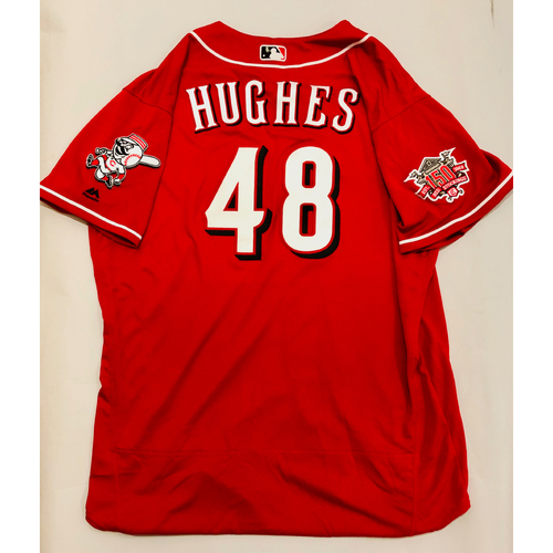 Photo of 2019 Mexico Series Game Used Jersey - Jared Hughes Size 52 (Cincinnati Reds)