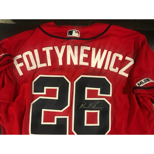 Photo of Mike Foltynewicz Game-Used Autographed Jersey