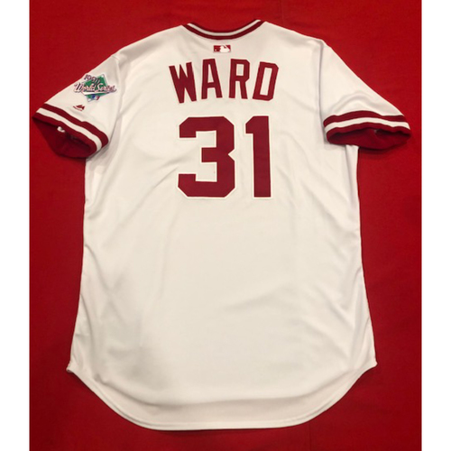 Photo of Turner Ward -- Team Issued 1990 Throwback Jersey -- Cardinals vs. Reds on Aug. 18, 2019 -- Jersey Size 46