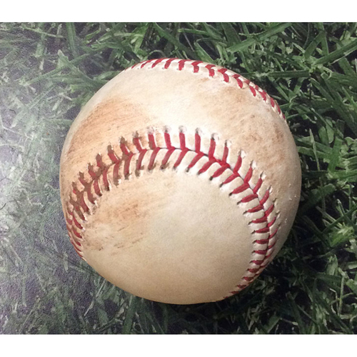 Photo of Game-Used Baseball HOU@MIL 09/03/19 - Zack Greinke - Yasmani Grandal: Single