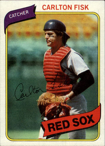 Photo of 1980 Topps #40 Carlton Fisk