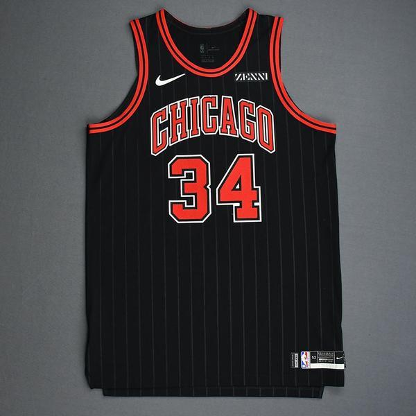 Image of Wendell Carter Jr. - Chicago Bulls - Game-Worn 2nd Half Statement Edition Jersey - 2019-20 Season