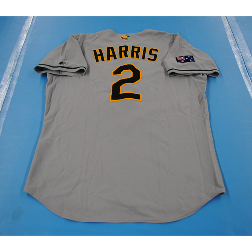 Photo of 2006 Inaugural World Baseball Classic: Tony Harris Game-worn Team Australia Road Jersey