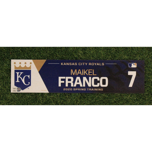 Photo of Game-Used Spring Training Locker Tag: Maikel Franco #7