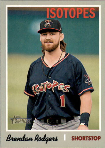 Photo of 2019 Topps Heritage Minors #176 Brendan Rodgers