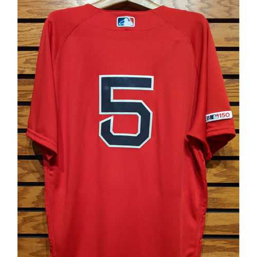 Photo of Tzu-Wei Lin #5 Team Issued Red Home Alternate Jersey