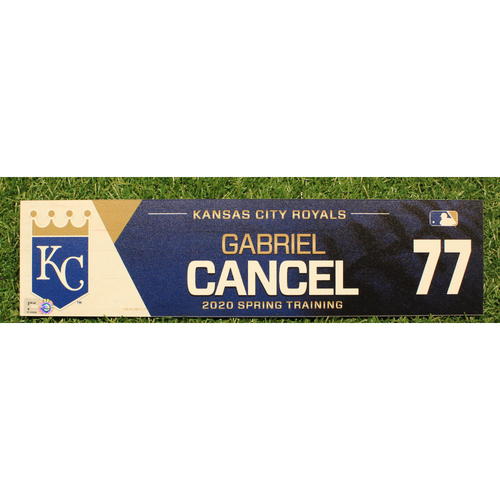 Photo of Game-Used 2020 Spring Training Locker Tag: Gabriel Cancel #77