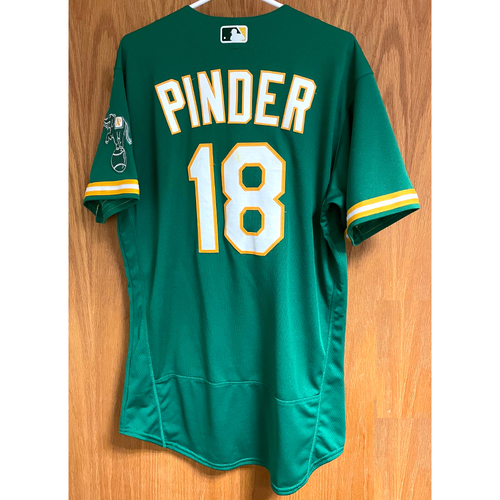 Photo of Chad Pinder Game-Used 2020 Jersey