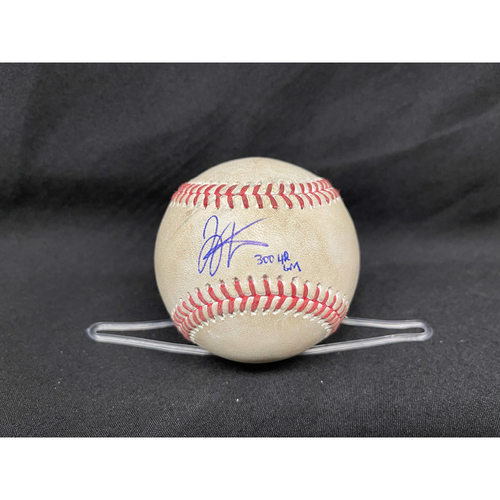 Joey Votto *Game-Used, Autographed & Inscribed* Baseball from 300th Career HR Game - Wade Miley to Anthony Rizzo (Ground Out); to Javier Baez (Ball in Dirt) -- 04/30/2021 - CHC vs. CIN - Top 3