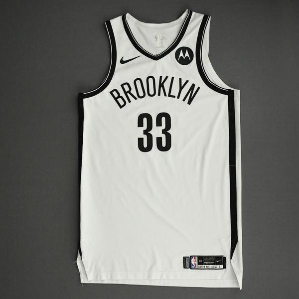Image of Nicolas Claxton - Brooklyn Nets - Game-Worn Association Edition Jersey - 2021 NBA Playoffs