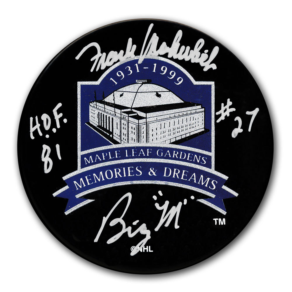 Frank Mahovlich Toronto Maple Leafs Memories & Dreams Autographed Puck