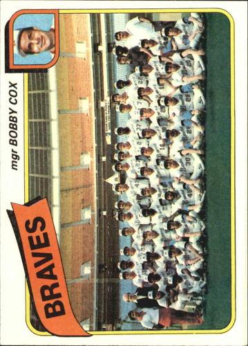 Photo of 1980 Topps #192 Atlanta Braves CL/Bobby Cox MG