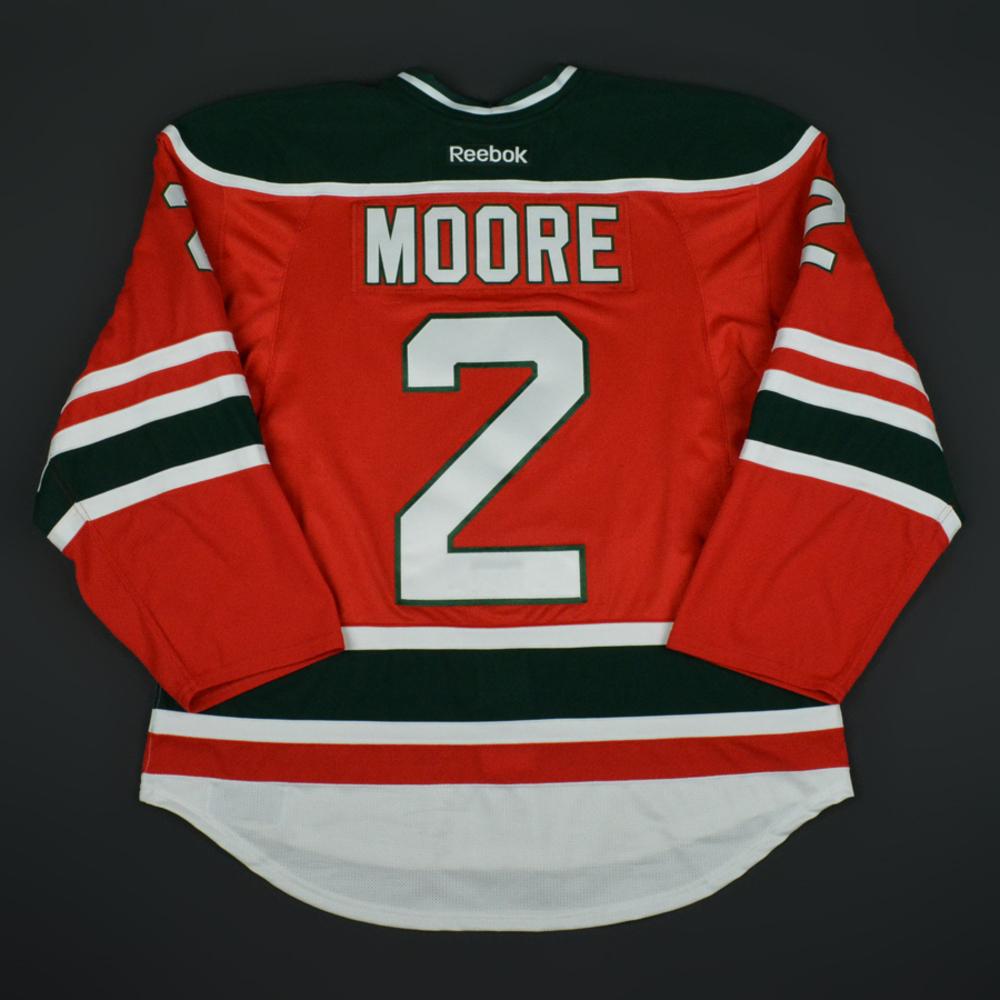 best service 2e1da de102 John Moore - New Jersey Devils - Retro Night Game-Worn ...