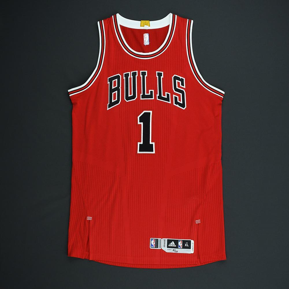 fa5aed761 Derrick Rose - Chicago Bulls - Game-Worn Jersey - 2014-15 NBA Season ...