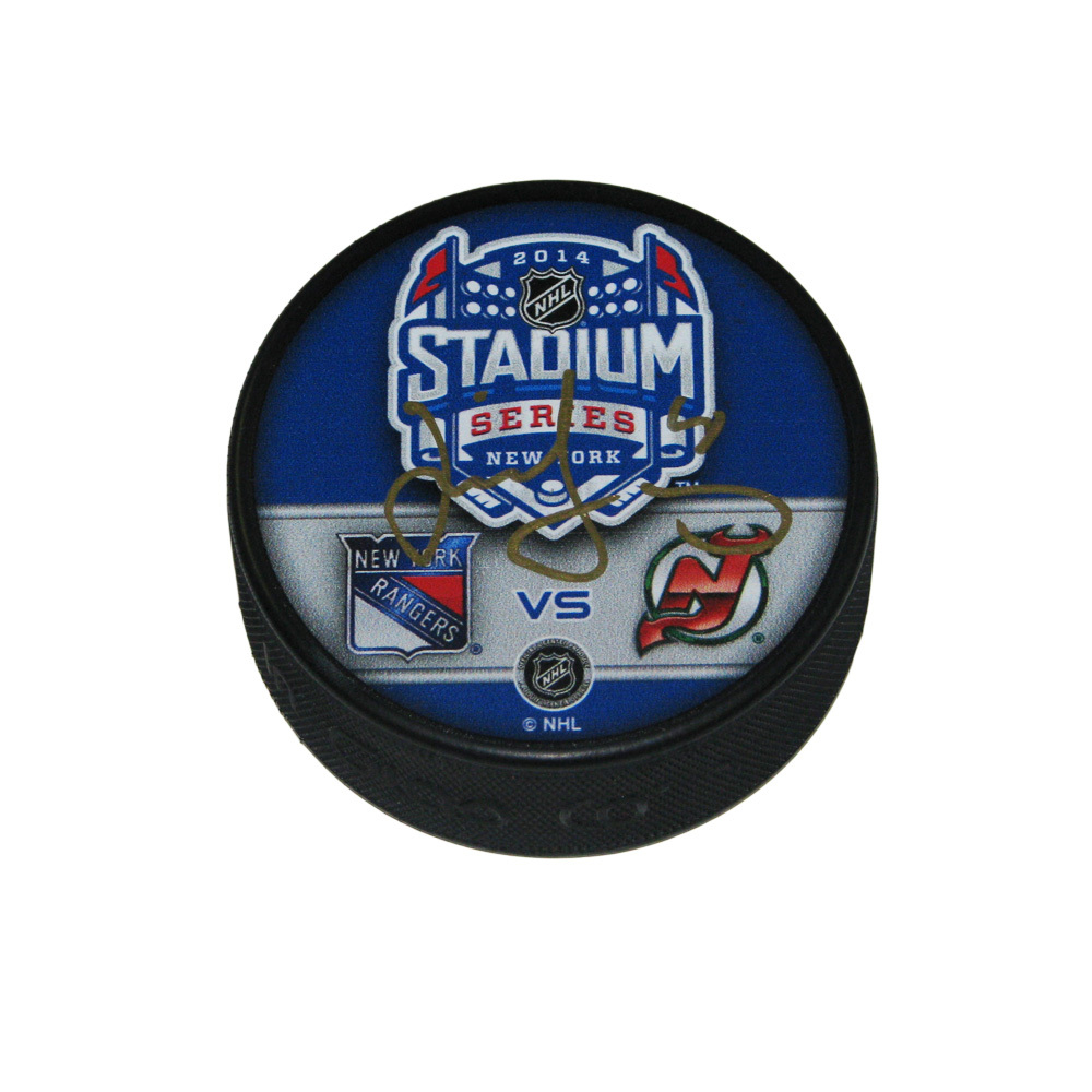 JAROMIR JAGR Signed Stadium Series 2014 New Jersey Devils Puck