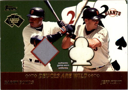 Photo of 2002 Topps 5-Card Stud Deuces are Wild Relics #5DBK Barry Bonds Jsy/Jeff Kent Jsy A