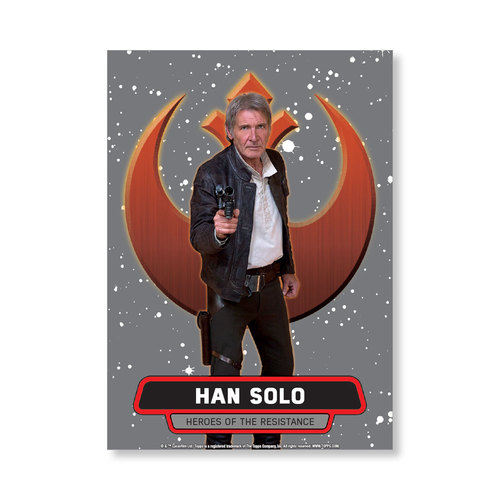 Han Solo 2016 Star Wars The Force Awakens Chrome Metal Poster - # to 99