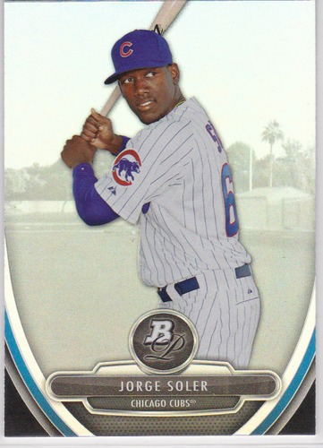 Photo of 2013 Bowman Platinum Prospects #BPP28 Jorge Soler Pre-Rookie Card