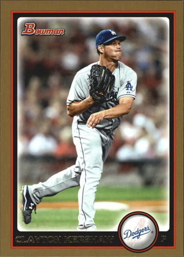 Photo of 2010 Bowman Gold #49 Clayton Kershaw