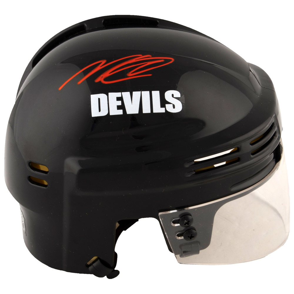 Nico Hischier New Jersey Devils Autographed Black Mini Helmet