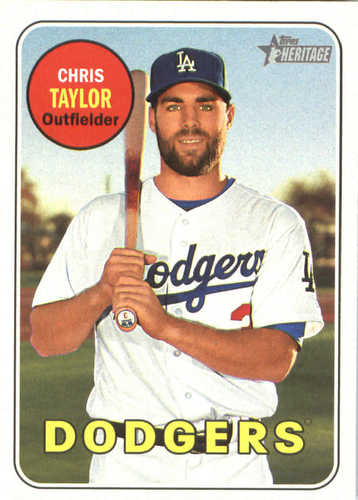 Photo of 2018 Topps Heritage #366 Chris Taylor
