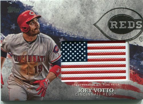 Photo of 2018 Topps Independence Day U.S. Flag Relics #IDMLJO Joey Votto