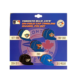 Toronto Blue Jays Cap Timeline Lapel Pin Set by PSG