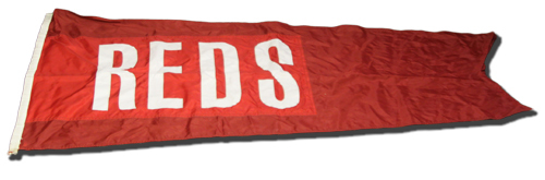 Photo of Wrigley Field Collection -- Scoreboard Flag -- Reds