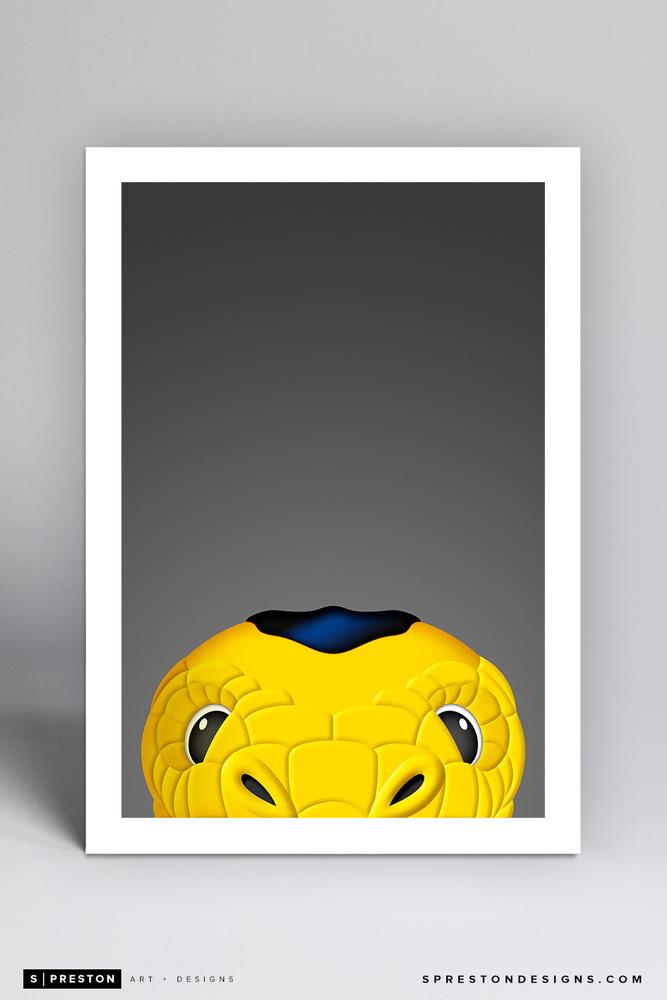 Chance Minimalist NHL Mascot Limited Edition Art Print by S. Preston