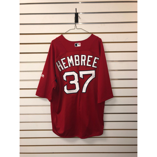 Photo of Heath Hembree Team-Issued Home Batting Practice Jersey