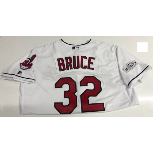 Photo of Jay Bruce Team Issued 2017 Post Season Home Jersey